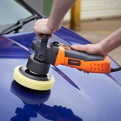 VonHaus Dual Action Car Polisher Kit 180mm Random Orbital Polishing Machine 2