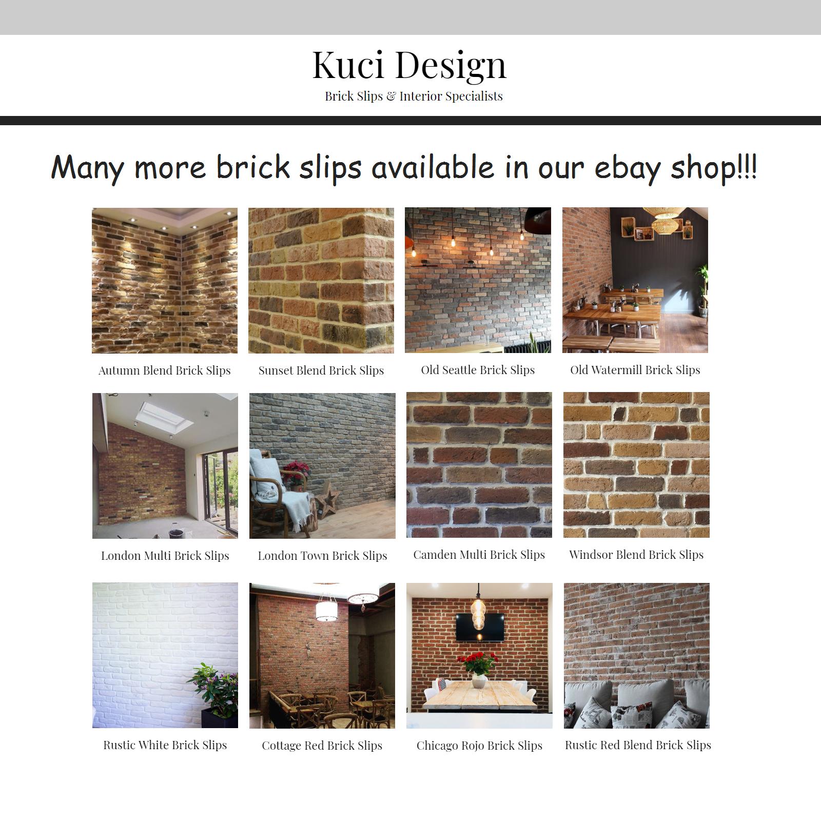 Arctic Grey Brick Slip BrickTile BrickCladding WallCladding SAMPLE