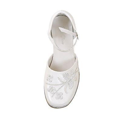ccb59609eed0a8 ... Ballerina festliche Schuhe Kommunion Taufe weiss und rosa