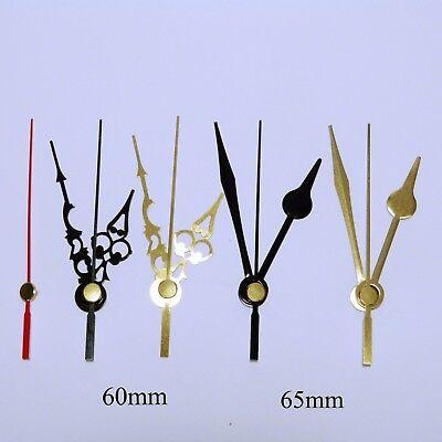 Quartz ticking clock movement, extra long 31mm shaft mechanism with hands. 5
