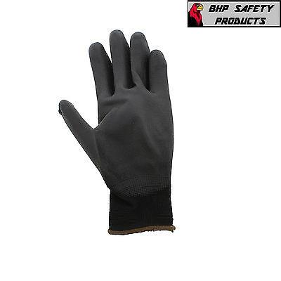 Global Glove Pug Polyurethane Coated Nylon Work Gloves 12 Pair Large (Pug17-L)