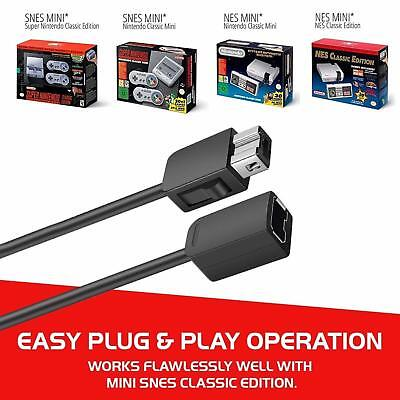 2Pack 10ft Extension Cable Cord for Nintendo Nes Mini Classic Edition Controller 3