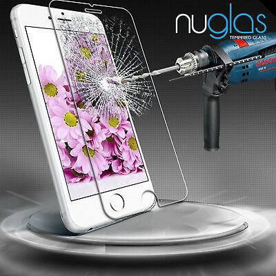 2x NUGLAS Tempered Glass Screen Protector for Apple iPhone X 8 7 6 5 Plus XS Max 5