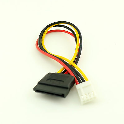 1pc 15-Pin SATA Female to 4-Pin Floppy FDD Female Power Converter Adapter Cable 3