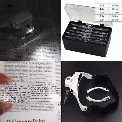 Gafa Lupa Con Luz Led Gafas De Aumentos Para Soldar Reparar Electrónica Relojero 2