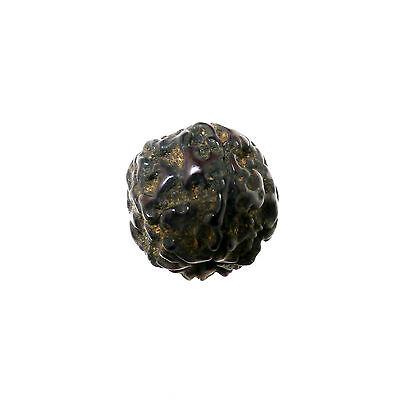 (1505)  Antique rudraksha beads 6 mukhi facets 3