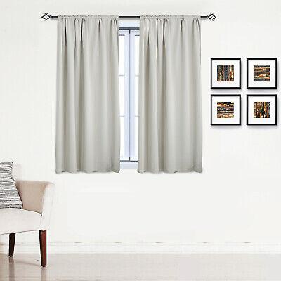Gardinen Vorhang blickdicht mit Kräuselband Thermo Verdunkelung 250g/m2 #330-a 8