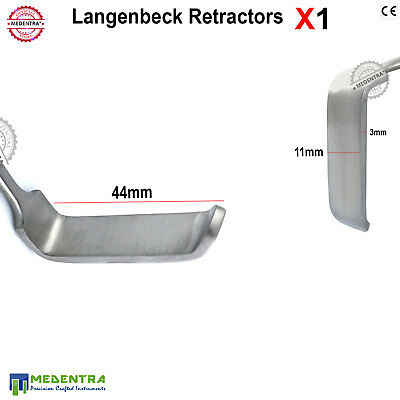 General Retractors LANGENBECK Oral Surgical Retractor 44mm Holding Tissue Layers 2
