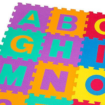 Manta de juegos alfabeto puzzle alfombra rompecabezas 86 piezas goma espuma EVA. 7