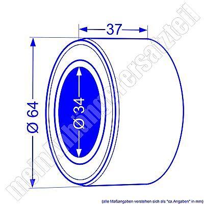 2x Kompaktlager Radlager Satz 34/64x37mm / 3464 / 34x64x37mm / 540466