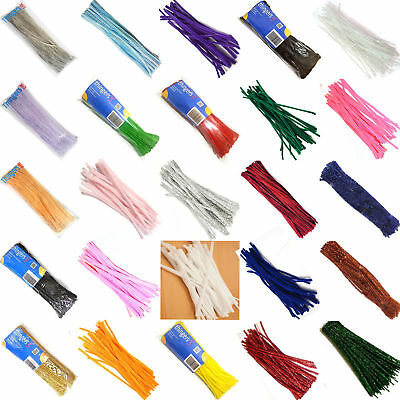 """Chenille Craft Stems Pipe Cleaners 30cm 12"""" - Lots of Colours & Pack Sizes - UK 3"""
