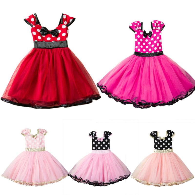 Kinder Minnie Mädchen Baby Maus Prinzessin Kleid Tutu Tüll Party eIE2YWHbD9