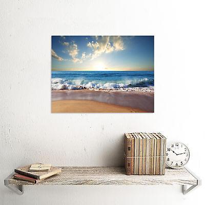 Photograph Seascape Beach Sand Ocean Surf Waves Picture Art Print Poster Mp5644B 2