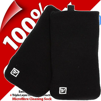 Glam Rox Triple Layer Microfibre Cleaning Mobile Phone MP3 Sock Case Pouch Cover 8