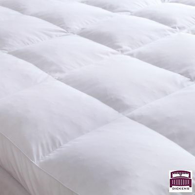 Goose Feather Down Mattress Topper Enhancer Luxury 10cm Deep Bed Protector Hotel 5