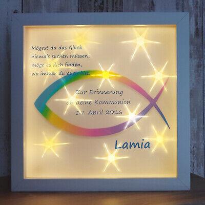 Konfirmation Kommunion Led Bild Namen Segenswünsche Paten