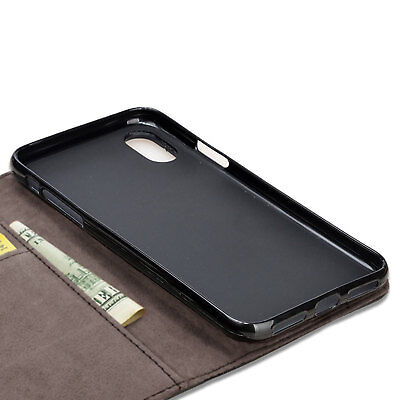 Case for iPhone 6 7 8 5S PLUS XR XS MAX Cover Real Genuine Leather Flip Wallet 5