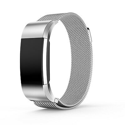 For Fitbit Charge 2 Milanese Strap Replacement  Band Stainless Steel Magnet UK 10