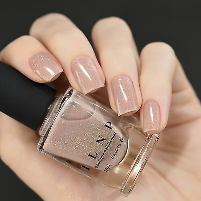 ILNP CHLEO - Neutral Blush Pink Holographic Sheer Jelly Nail Polish ...