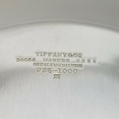 Tiffany & Co. Makers Sterling Silver ~6.5' In* Cookie Saucer Bread Charger Plate 8