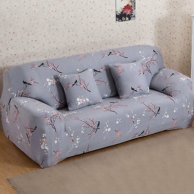 1/2/3 Seater Elastic Sofa Covers Slipcover Settee Stretch Floral Couch Protector 10