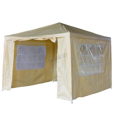 New 3 x 3m 120g Waterproof Outdoor PE Garden Gazebo Marquee Canopy Party Tent 2