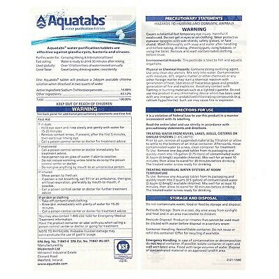 Water Purification Tablets Aquatabs Easy Purify and Cleaning Water For Drinking 4