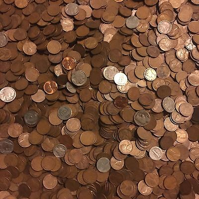 ✯1Lb Pound Unsearched Wheat Cents Lincoln Pennies✯Estate Sale Coins Lot✯1909-58✯ 3