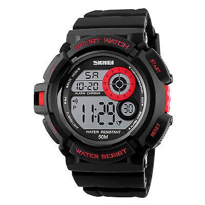 Men's Army SHOCK Sport Quartz Wrist Day Date Digital Watch Waterproof Military 8