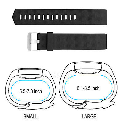 Fitbit Charge 2 Replacement Silicone Gel Band Strap Bracelet Wristband Sport 8