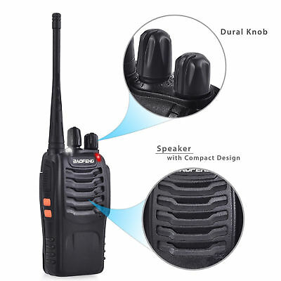4x Portable Walkie Talkie UHF 400-470MHz 16CH BF-888S Two-Way Radio 5 kilometers 2