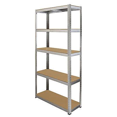 4 x Storage Shelving Garage Racking Heavy Duty 5 Tier Boltless Bays MDF Shelves 4