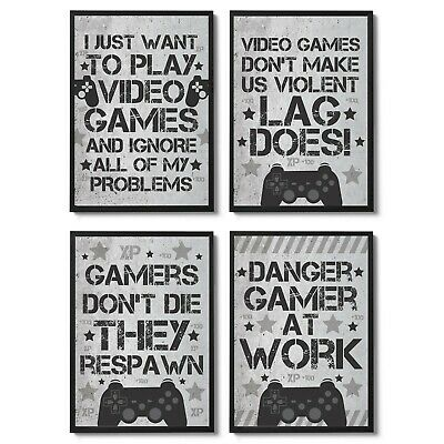 Gaming Boys Bedroom Prints / Games Room Wall Art / Gamer Gifts / Gaming Poster 2