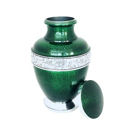 Well Lived® Green Metallic Adult Cremation Urn for human ashes 2