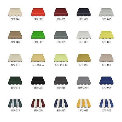 4m Volant Markisenbespannung Markisevolant Markisestoff mehr Farbe Auswahl 2