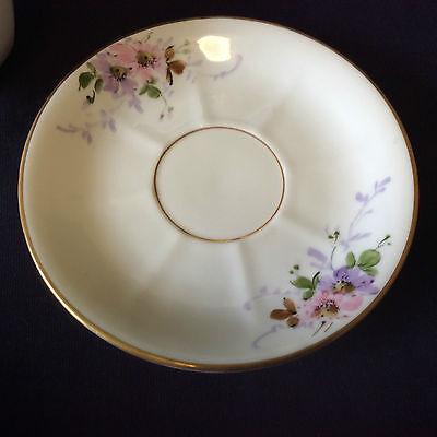 Tasse  porcelaine peinte de Limoges monogramme à l'or G.S France