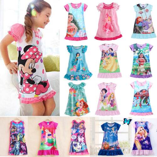 bb6678e787f8 TODDLERS GIRLS PRINCESS Dress Disney Character Party Skater Dresses ...