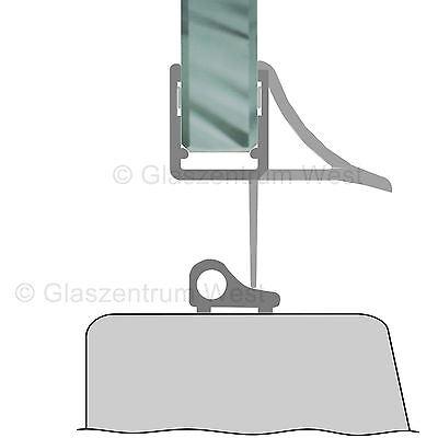 Duschdichtung Wasserabweiser Duschprofil Streifdichtung Schwall 5-8 mm, 20cm-2m 10