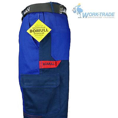 Arbeitshose Bundhose Blau 100% Baumwolle Schutzkleidung BOMULL Gr. 46-62 NEU TOP
