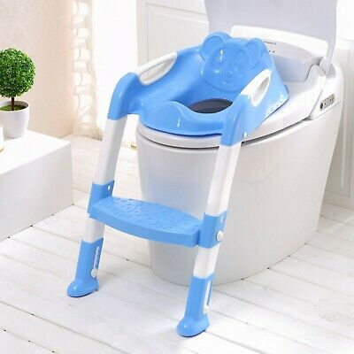 Children Baby Toddler Kid Potty Training Toilet Seat Trainer Urinal Chair Ladder 2