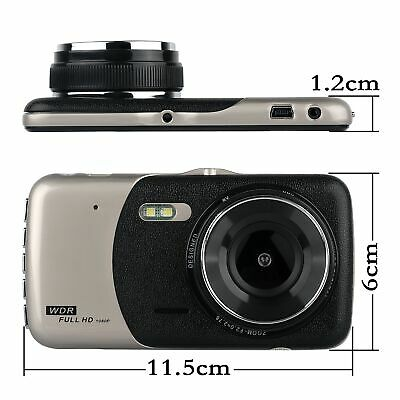 4'' HD 1080P Dual Lens Car DVR Front and Rear Camera Video Dash Cam Recorder 170 2