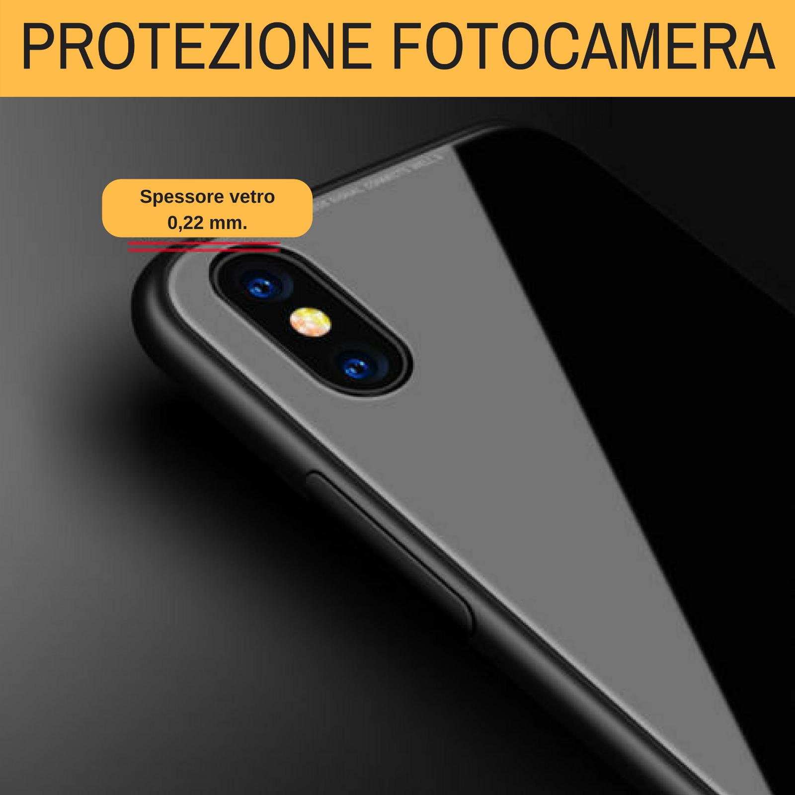 Cover Custodia Magnetica Alluminio Vetro Temperato Apple Iphone 6 6S 7 8 X Xs Xr 6