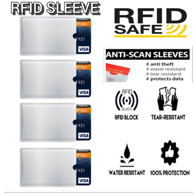 10Pcs RFID Blocking Sleeve Secure Credit Debit Card ID Protector Anti Scan Safet 2