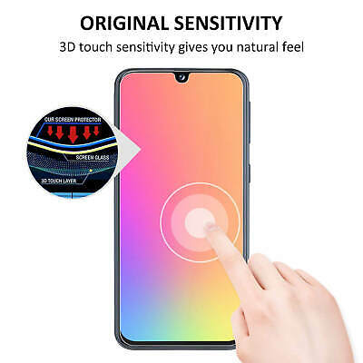 For Samsung Galaxy A40 A50 Full Coverage Tempered Glass Screen Protector Clear 9