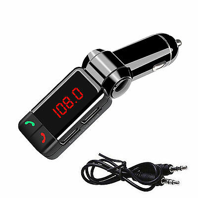 Wireless Bluetooth Car Kit FM Transmitter Handsfree Car Charger MP3 Player USB 7