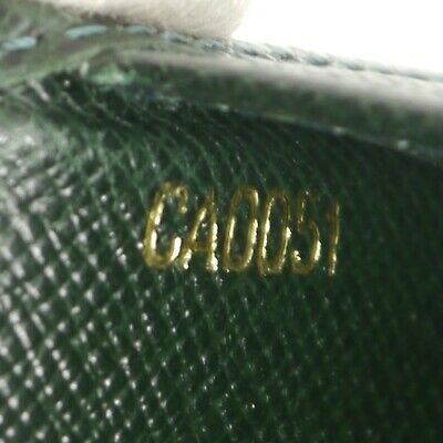 Auth LOUIS VUITTON Agenda Poche Day Planner Cover Green Leather R20425 #f30479 12