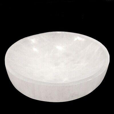 "XL Selenite ""Charging"" Bowl White Crystal Stone Reiki CHARGED Healing Cleansing 4"