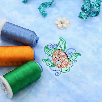 Individual Cones Of Polyester Machine Embroidery Thread - 1000M - 200+ Colors 3