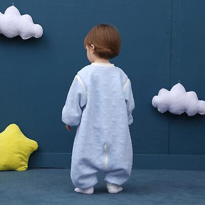 Baby Toddler Kids 100% Cotton Wearable Organic Blanket Sleeping Bag Winter Wrap 10