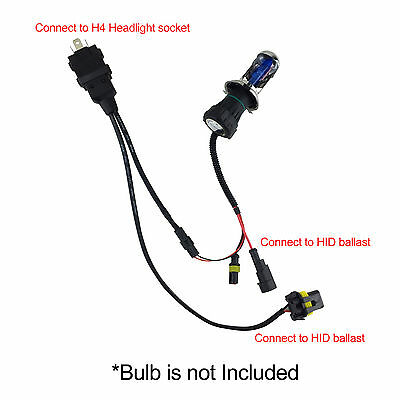 2X H4 9003 Easy Relay Harness Hi/Lo Bi-Xenon HID Bulbs ... H Hid Wiring Harness on h4 led wiring, 12vdc relay wiring, h4 bulb wiring, h4 wiring with diode, h4 wiring lamp, h4 wiring adapters,